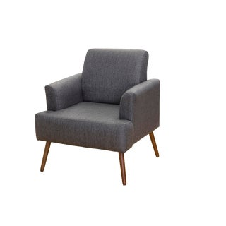 Modern Iris Charcoal Grey Armchair For Sale