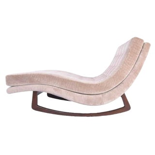 Adrian Pearsall Rocking Chaise Lounge With Walnut Base For Sale