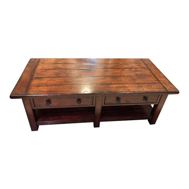 Pottery Barn Benchwright Rectangular Coffee Table Chairish - Pottery barn benchwright end table