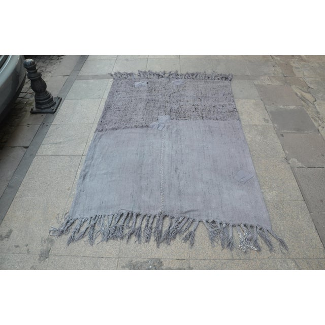 Turkish Anatolian handwoven Vintage Antique Hemp Rug From east part of turkey