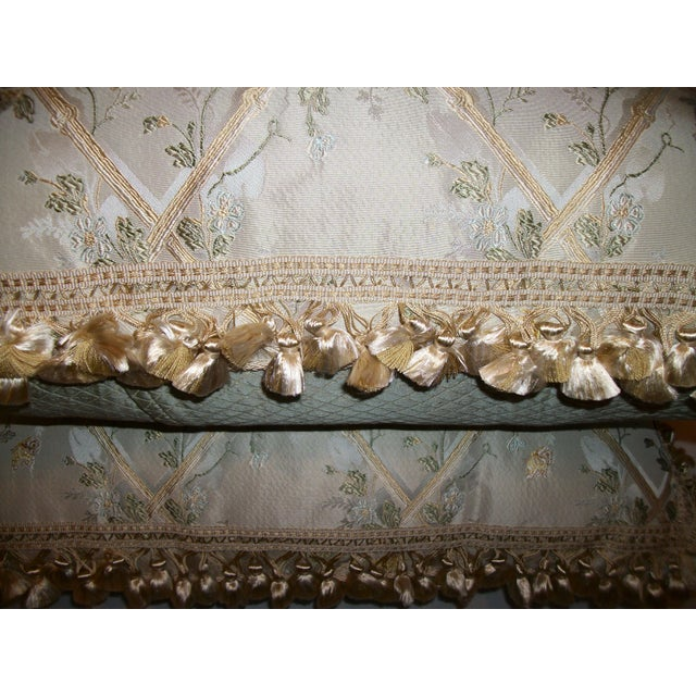 """Scalamandre """"Butterfly & Trellis"""" Pillows - A Pair For Sale - Image 7 of 8"""