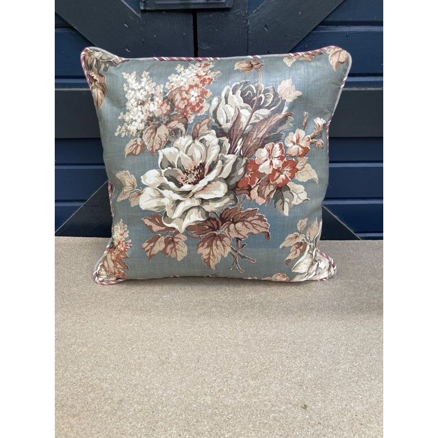 2020s Floral Chintz Textile Throw Pillow For Sale - Image 5 of 5