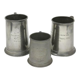 1930s Motor Club Trophy Ale Mugs - Set of 3