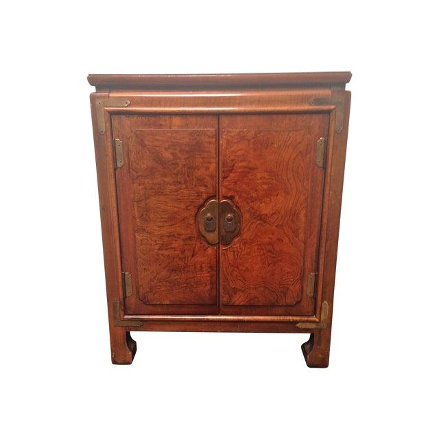 Thomasville Burled Asian Style Cabinet - Image 1 of 8