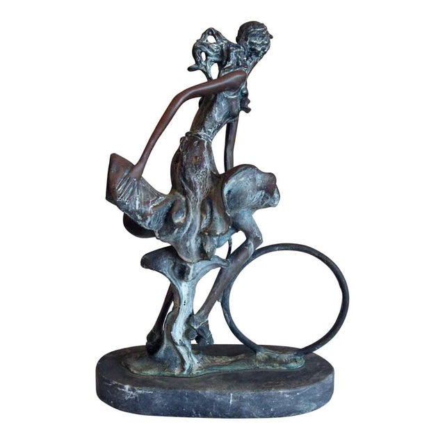 Bronze Bronze Sculpture by Louis Icart For Sale - Image 7 of 8