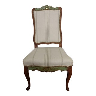 Antique French Striped Louis XV Chair