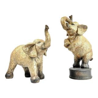 Bronze Elephant Sculptures - a Pair For Sale