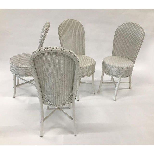 Lloyd Manufacturing Co. 1950s Woven Lloyd Loom Chairs — Set of 4 For Sale - Image 4 of 12