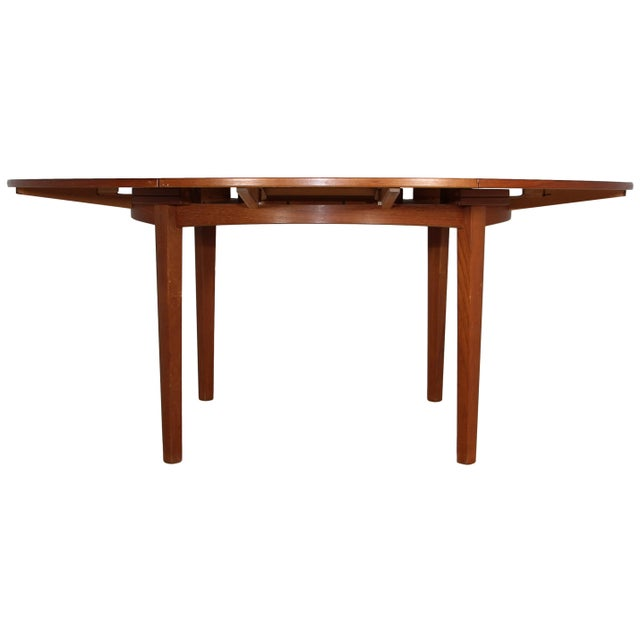 """1960s Dyrlund """"Flip-Flap"""" Lotus Dining Table For Sale - Image 5 of 10"""
