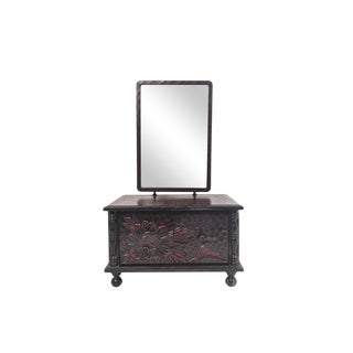 Chinoiserie Jewelry Box W/Mirror For Sale