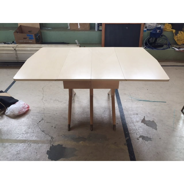 Mid Century Blonde Dining Table - Image 2 of 6