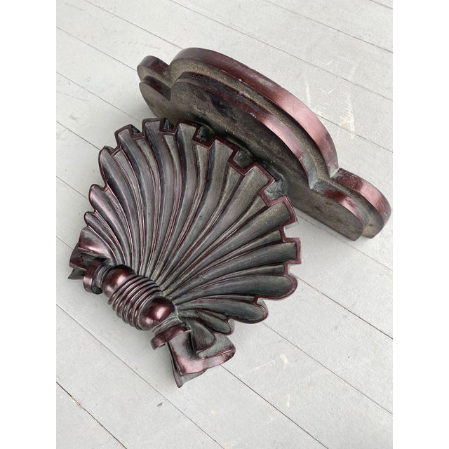 Shabby Chic Plaster Shell Decorative Wall Bracket For Sale - Image 3 of 4
