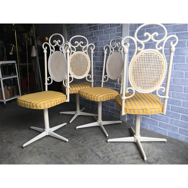 1960s Vintage Victorian White Cast Iron Dining Set For Sale - Image 5 of 13