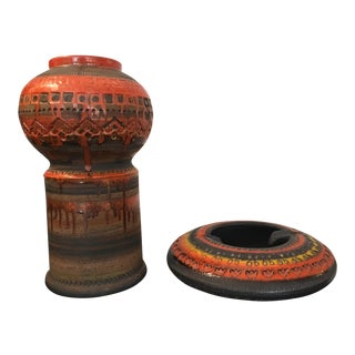 Raymor for Bitossi Ashtray and Vase For Sale
