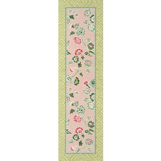 """Madcap Cottage Under a Loggia Blossom Dearie Multi Indoor/Outdoor Area Rug 2'3"""" X 8' Runner For Sale"""