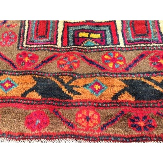 Vintage Persian Rug Qashqai Tribal Rug Plush Hand Knotted Wool Vibrant Preview