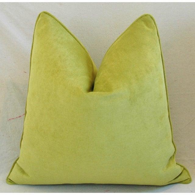 Custom Apple Green Velvet Pillows - Pair For Sale - Image 10 of 10