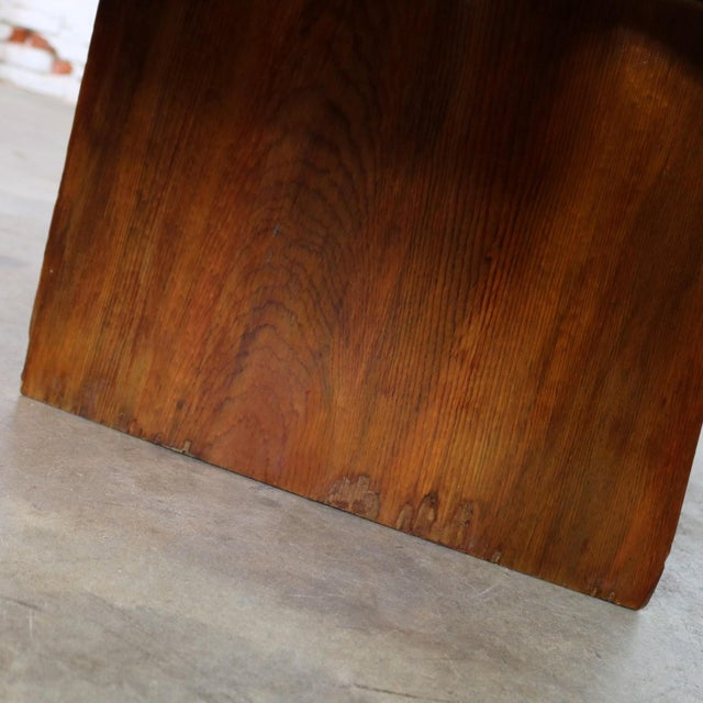 Live Edge Solid Slab Coffee Table or Bench in the Style of George Nakashima For Sale - Image 11 of 13