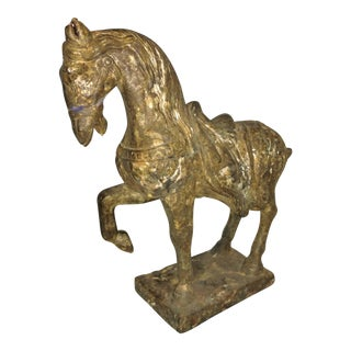Antique Chinese Tang Dynasty Style Plaster Horse