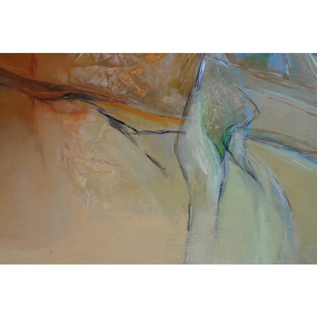 """Gray Alexander Nepote """"Summit Bluff"""" Monumental Modernist Landscape C.1970 For Sale - Image 8 of 12"""