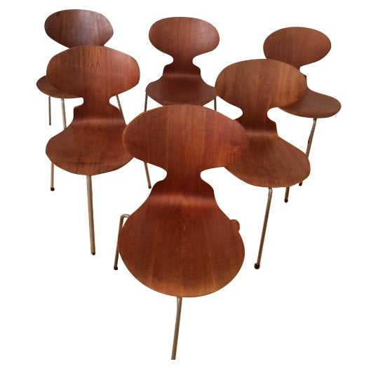 Arne Jacobsen Ant Dining Chairs - Set of 6 - Image 1 of 7