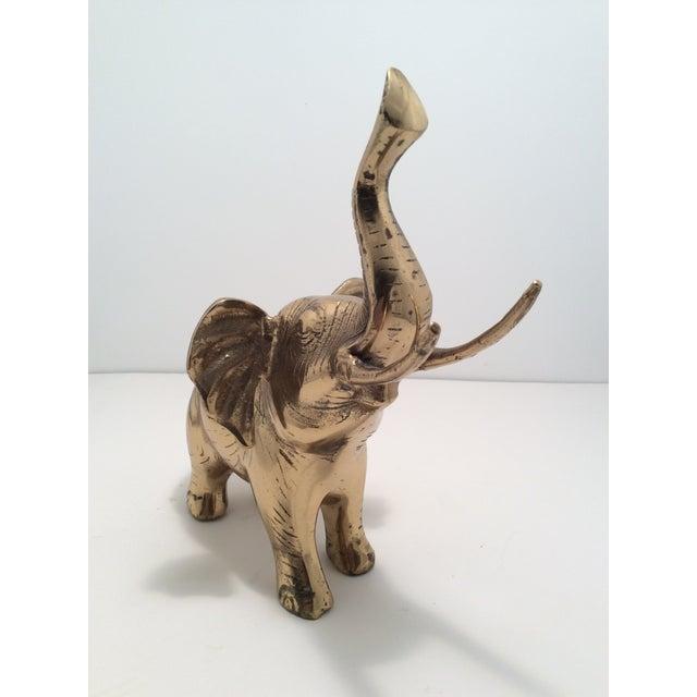 Mid-Century Brass Elephant Figurine - Image 3 of 4