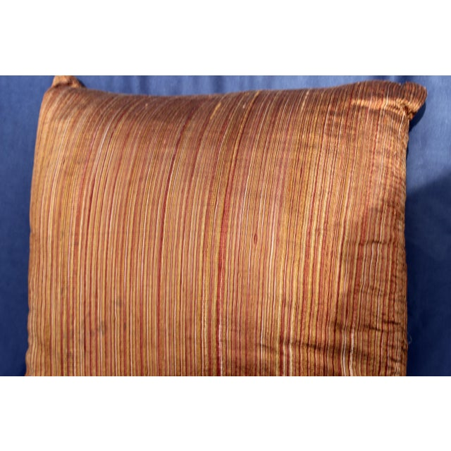 Art Deco Mid 20th C. Possible Art Deco to Mid Century Silk Pillow For Sale - Image 3 of 5