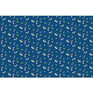 Bugs Classic Blue Linen Cotton Fabric 3yds For Sale
