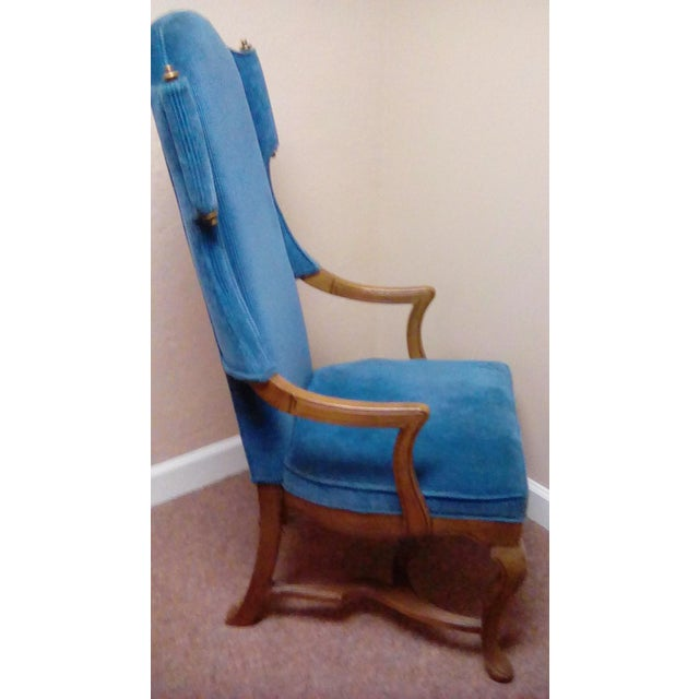 Jim Peed Esperanto Drexel Wingback Chair - Image 3 of 9