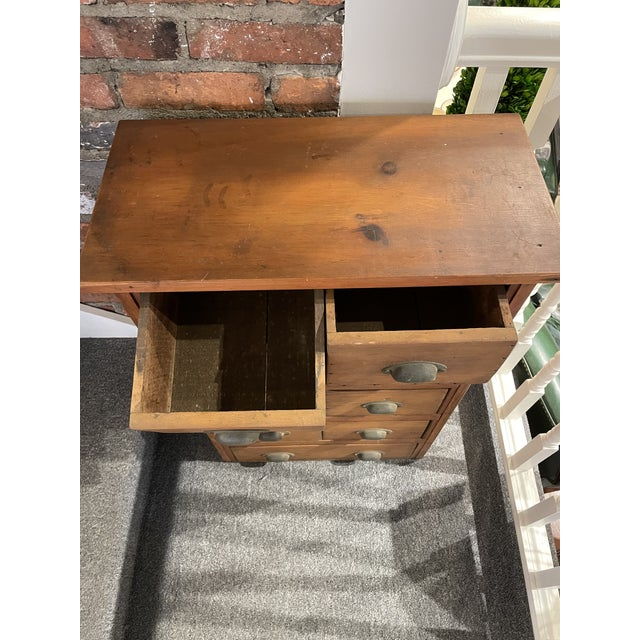 Antique Knotty Pine Apothecary Chest For Sale - Image 4 of 5