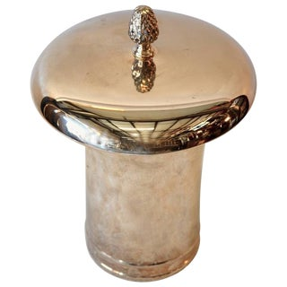 English Silver Covered Pot For Sale