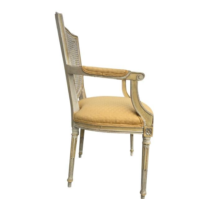 1970s Vintage French XVI Style Painted Dining Chairs- Set of 8 For Sale In Tampa - Image 6 of 13