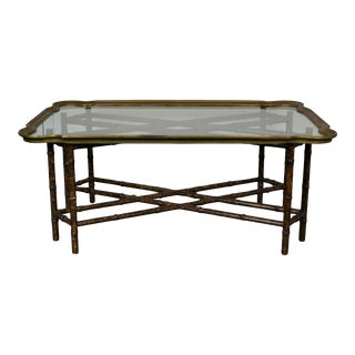 Hollywood Regency Tray Top Coffee Table For Sale