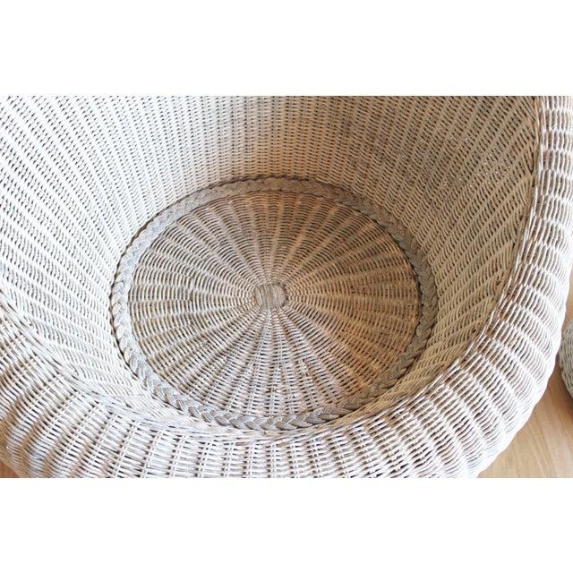 Isamu Kenmochi for Yamakawa Japan Rattan Lounge Chair & Side Table For Sale - Image 12 of 13