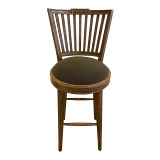 Charles Pollock Gustavian Swivel Bar Stool For Sale