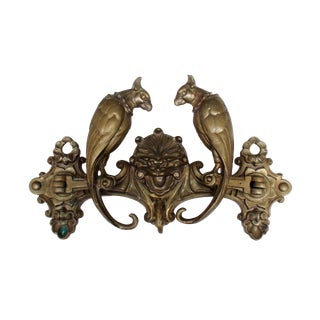 Late 19th Century Antique Victorian Bronze Cockatoo Coat Rack For Sale