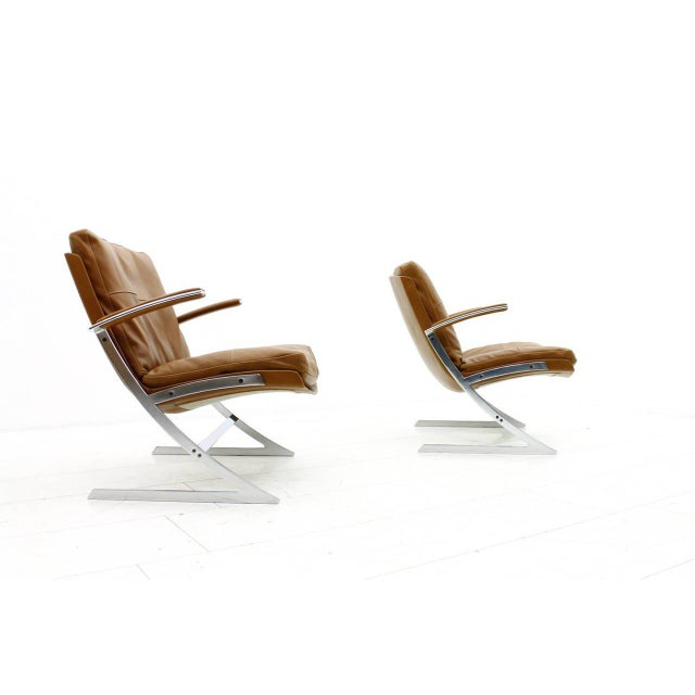 1970s Pair of Lobby Lounge Chairs by Preben Fabricius for Arnold Exclusiv, 1972 For Sale - Image 5 of 11