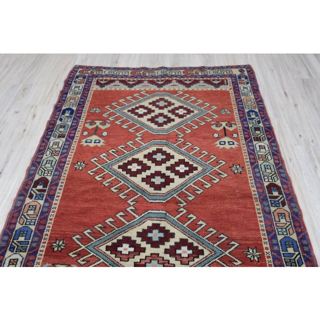 Vintage Oushak Wool Hand Knotted Rug - 4′6″ × 8′1″ - Image 4 of 11