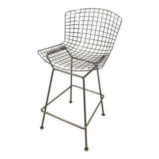 Authentic Knoll Bertoia Wire Bar Stool For Sale