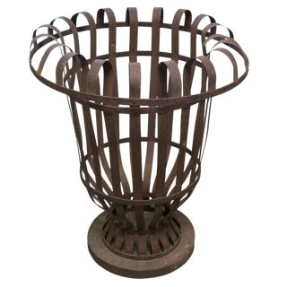 French Iron Tree Pot Holder For Sale