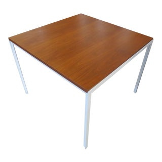 1970s Modern Florence Knoll T Angle Dining Table For Sale