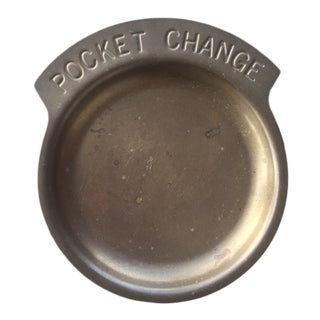 Mid-Century Brass Pocket Change Dish For Sale