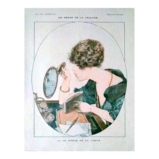 """Herouard 1919 """"Le Miroir De La Verite"""" La Vie Parisienne Print"""
