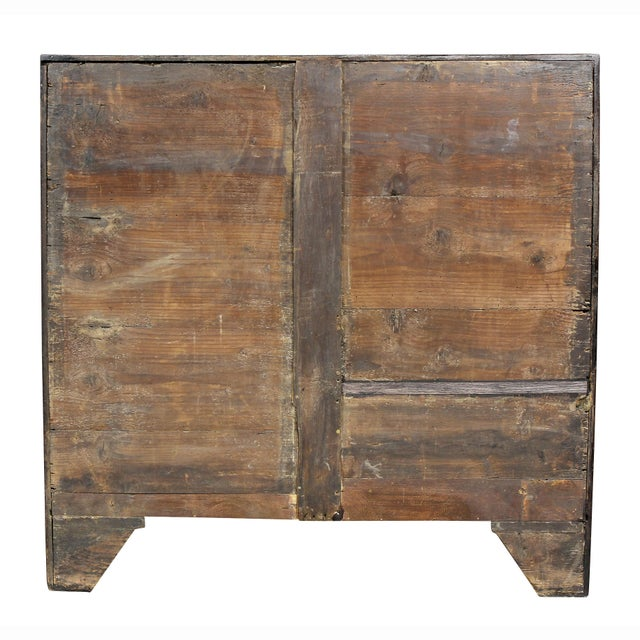 George III Mahogany and Inlaid Bowfront Chest of Drawers For Sale - Image 10 of 11