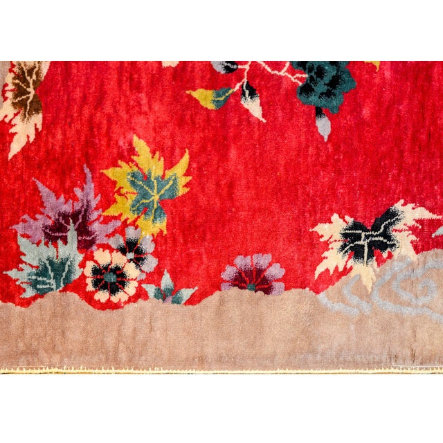 Textile Chinese Art Deco Rug For Sale - Image 7 of 10