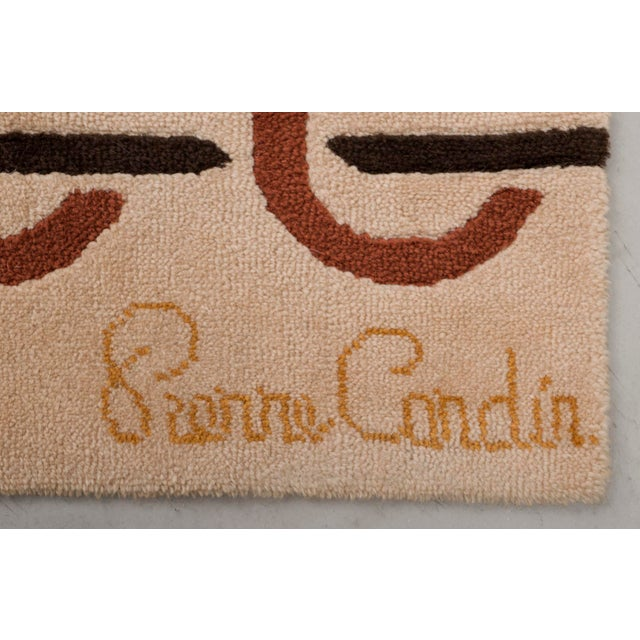 Modernist Wool Rug by Pierre Cardin in Golden Yellow, Denmark 1960s For Sale - Image 10 of 11