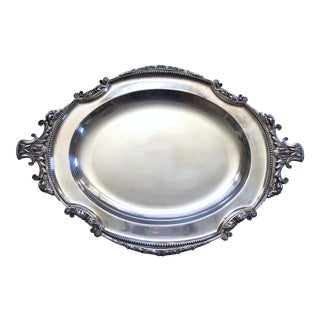 Elkington Large Silver Plate Serving Tray For Sale