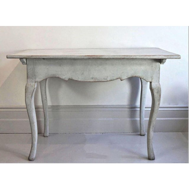 18th C Swedish Rococo Side Table For Sale - Image 4 of 4