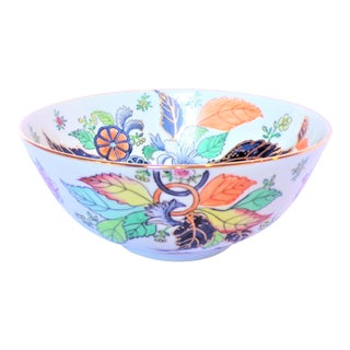Vintage Tobacco Leaf Porcelain Decorative Bowl For Sale