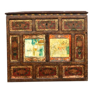 Antique Tibetan Monastery Cabinet For Sale